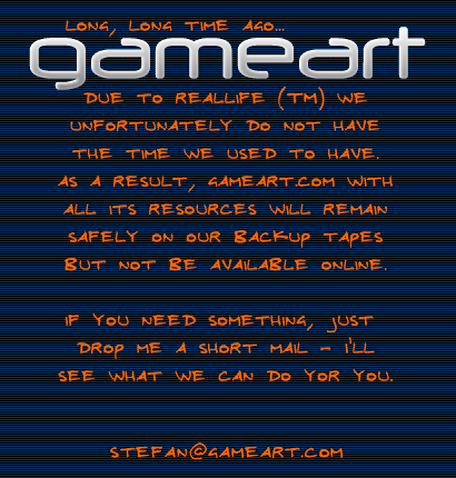 GameArt.com farewell message